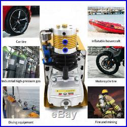 110V Auto Shut down 30MPa Air Compressor Pump PCP Electric 4500PSI High Pressure