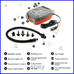 12V 20PSI Inflatable Air Pump High Pressure Portable For Airbed SUP Paddle Board