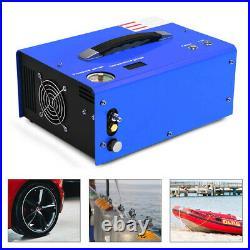 12V 30MPA High Pressure Pump Scuba Diving PCP Air Compressor Auto-Stop 110V/220V