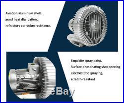 1500W Industrial High Pressure Vortex Vacuum Pump Dry Air Blower 1-phase 220V