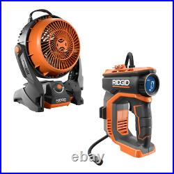 18V Cordless High Pressure Inflator With 20 in. Air Hose & Hybrid Fan-Tool Only