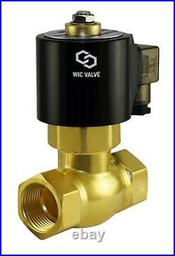 1/2 Inch Brass High Pressure Steam Electric Solenoid Process Valve NC 24V DC