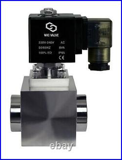 1/2 Inch High Pressure Stainless Energy Save Electric Solenoid Valve NC 220V AC