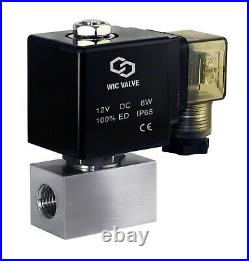 1/4 Inch High Pressure 2900 PSI Stainless Electric Solenoid Valve NC 12V DC