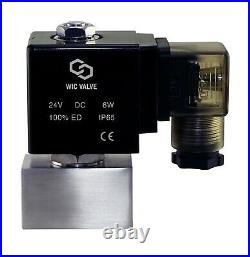 1/4 Inch High Pressure 2900 PSI Stainless Electric Solenoid Valve NC 24V DC