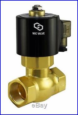 1 Inch Brass High Pressure Steam Electric Solenoid Process Valve 220V AC NC