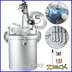 2 1/4 Gallon 2.0mm Nozzle High Pressure Pot Air Paint Spray Gun Painting 2 Hose