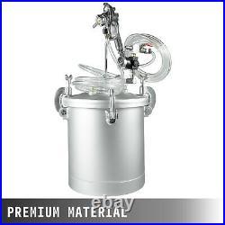 2 1/4 Gallon High Pressure Pot Tank Air Paint Spray Gun Painting Painter 2 Hose