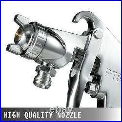 2.5 Gallon High Pressure Pot Paint Sprayer Dual Hose Tank 3/8 Fluid Outlet