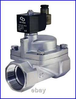 2 Inch High Pressure Stainless Steel Electric Steam Solenoid Valve NC 110V AC