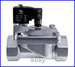 2 Stainless High Pressure 230 PSI Electric Solenoid Process Valve 220V AC NC