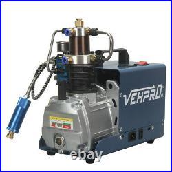 30MPA 4500PSI 300BAR High Pressure Air Compressor PCP Airgun Scuba Air Pump 110v