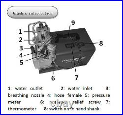 30MPA 4500PSI Electric Air Compressor High Pressure Air Pump Airgun Scuba Rifle