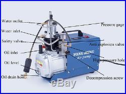 30MPa 4500PSI High Pressure Electric Air Compressor Setting Pressure Pump 220V