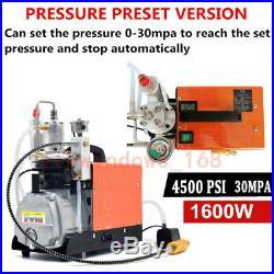 30MPa Air Compressor Pump PCP Electric High Pressure Preset System Rifle 220V