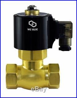 3/4 Inch Brass High Pressure Electric Steam Solenoid Process Valve NC 110V AC