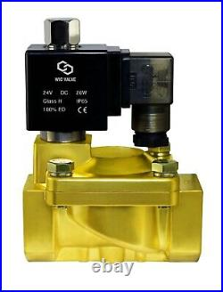 3/8 Normally Open High Pressure 188 PSI Brass Electric Solenoid Valve 24V DC