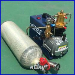 400BAR 40MPA 6000PSI High Pressure Air Compressor PCP Airgun Scuba Air Pump 220V