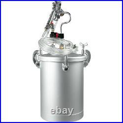 4 Gallon 3.5mm High Pressure Pot Paint Sprayer House Painting 15L Dual Hose