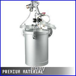 4 Gallon 3mm Nozzle High Pressure Pot Tank Air Paint Spray Gun Painting 2 Hose