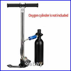 4 Stage 6000PSI PCP Air Tank High Pressure Hand Pump Hunting Scuba Diving Oxygen