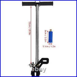 4 Stage PCP Hand Air Pump High Pressure 4500 PSI 40Mpa Gauge Inflator Hunting US