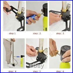 6000PSI 63MPA PCP Air Gun Rifle Filling Stirrup High Pressure Hand Pump with Gauge