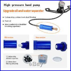 6000PSI PCP Pump 3 Stage Airgun PCP Air Rifle High Pressure Hand Tire Pump Scuba