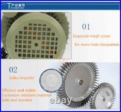 750W Industrial High Pressure Vortex Vacuum Pump 220V Dry Air Blower Oxygenator