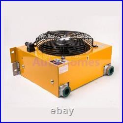 AH0608T Hydraulic Air Cooler Aluminum Alloy Heat Exchanger Oil Cooler