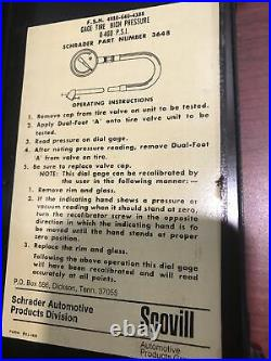 Aircraft High Pressure Air Pressure Gage 0-400 PSI Shrader P/N 3648 Vintage 1974