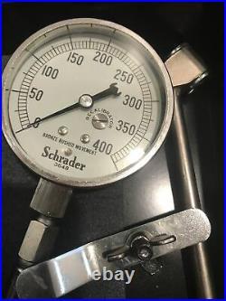 Aircraft High Pressure Air Pressure Gage 0-400 PSI Shrader P/N 3648 Vintage New