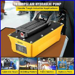 Auto Body Shop 2.3L Oil Tank Air Hydraulic Foot Pump 10,000PSI High Pressure