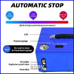 DC 12V 300Bar High Pressure Compressor PCP Rifle Scuba Air Pump Auto Stop 220V