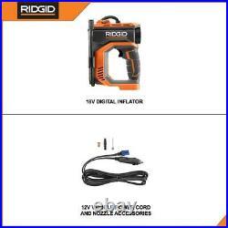 DIGITAL INFLATOR 18-Volt Cordless Air Compressor High Pressure Gauge Tool Only