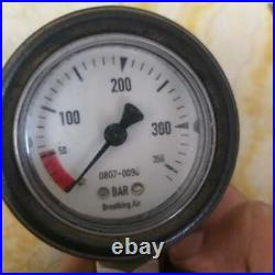 Draeger highpressure air tester gauge for cylinders of scba, scuba and paint ball