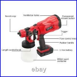 Electric Spray Gun 800ml Household Paint Sprayer High Pressure Flow Control Air