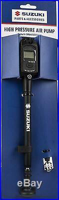 Genuine Suzuki High Pressure Hand Air Pump + Digital Gauge For Air Fork RMZ450L5