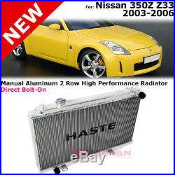 Haste Radiator For Nissan 350Z 03-06 Z33 Manual Aluminum High Performance