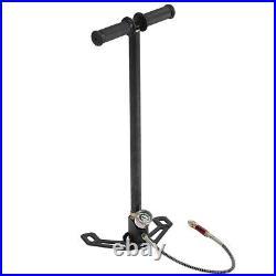 High Pressure 0-6000psi 3 Stage Hand Pump for PCP Air Gun Boat Tire Ball