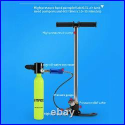 High Pressure Air Hand Pump 4500PSi for Scuba Diving Air Oxygen Cylinder Tank US