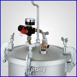 High Pressure Pot Air Paint Spray Gun2 3/4 Gallon 10L Painting Tools House Paint