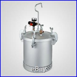 High Pressure Pot Air Paint Spray Gun 2 1/2 Gallon Industrial Painting Painter
