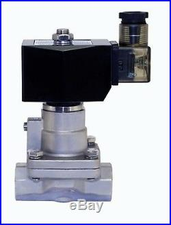 High Pressure Stainless Steel Electric Steam Solenoid Valve NC 12V DC 3/4 Inch