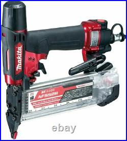 Makita high pressure finish nailing (Red) with air duster AF552H From Japan New
