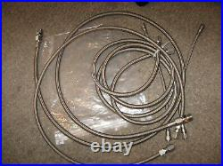 NEW LOT of 5 Stainless steel High Pressure Braded Hoses air 45 & 13.5