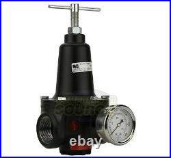 New 1 Inline Compressed Air Compressor Line High Flow Pressure Regulator Valve
