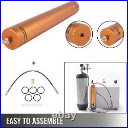 PCP Compressor Oil Water Separator 30mpa High Pressure Air Filter with 50cm Hose