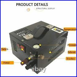 Pcp Compressor WithTransformer 4500psi 300bar 30mpa 12v/220v Air Gun Inflatable