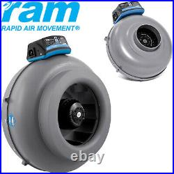 RAM Inline Duct Fans High Pressure Air Movement 4 10 Ventilation UK PLUG